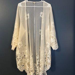 Beautiful lace cardigan!